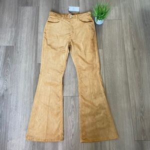 RE/DONE 70s Ultra High Rise Bell Bottoms Camel 29